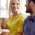 幸せ · 男 · コーヒー · 女性 · オフィス · ビジネス - ストックフォト © dolgachov
