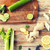 close up of super food ingredients on wooden table stock photo © dolgachov
