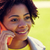 felice · african · donna · chiamando · smartphone · esterna - foto d'archivio © dolgachov