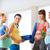 group of happy pregnant women talking in gym stock photo © dolgachov