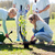 csoport · önkéntesek · ültet · fa · park · önkéntesség - stock fotó © dolgachov