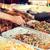 közelkép · szakács · kezek · harapnivalók · utca · piac - stock fotó © dolgachov