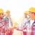 csoport · mosolyog · építők · kézfogás · kint · üzlet - stock fotó © dolgachov