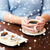 mulher · xícara · de · café · sobremesa · bebidas - foto stock © dolgachov