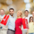 幸せな人々 ·  · ショッピングバッグ · ジェスチャー · 販売 - ストックフォト © dolgachov