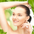 güzel · bir · kadın · yeşil · yaprakları · resim · kadın · kız · eller - stok fotoğraf © dolgachov