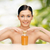 mooie · vrouw · olie · fles · gezondheidszorg · spa · schoonheid - stockfoto © dolgachov
