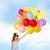 happy · girl · kolorowy · balony · lata · wakacje · uroczystości - zdjęcia stock © dolgachov