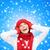 gülen · genç · kadın · kış · elbise · mutluluk · tatil - stok fotoğraf © dolgachov