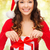 christmas · dar · posiedzenia · tabeli · drzewo · polu - zdjęcia stock © dolgachov