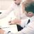 negócio · trabalhando · equipe · dois · parceiros · de · negócios · sessão - foto stock © dolgachov