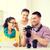 equipe · sorridente · câmera · escritório · homem - foto stock © dolgachov
