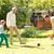 família · feliz · jogar · bola · casa · família · pessoas - foto stock © dolgachov