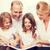 два · счастливым · девочек · чтение · книга · домой - Сток-фото © dolgachov
