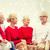 улыбаясь · семьи · сидят · говорить · домой · праздников - Сток-фото © dolgachov