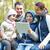 familie · vergadering · bank · kamp · reizen - stockfoto © dolgachov