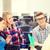 csoport · diákok · ül · vizsga · előcsarnok · főiskola - stock fotó © dolgachov