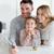 boldog · család · elvesz · étterem · család · nevelés · technológia - stock fotó © dolgachov