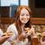 друзей · еды · пиццы · пива · ресторан · отдыха - Сток-фото © dolgachov