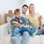 familia · feliz · cajas · movimiento · nuevo · hogar · hipoteca · personas - foto stock © dolgachov