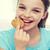 ragazza · mangiare · cookie · giovane · ragazza · bocca - foto d'archivio © dolgachov