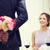 mutlu · kadın · çiçek · gözlük · moda - stok fotoğraf © dolgachov