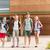 grup · mutlu · Öğrenciler · yürüyüş · birincil - stok fotoğraf © dolgachov