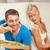 casal · alimentação · diferente · comida · brilhante · quadro - foto stock © dolgachov