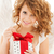 feliz · mulher · asas · de · anjo · natal · dom · pessoas - foto stock © dolgachov