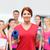 szczęśliwy · kobieta · woda · pitna · domu · fitness - zdjęcia stock © dolgachov
