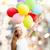 ragazza · battenti · aria · palloncini · ragazzo - foto d'archivio © dolgachov
