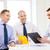 gelukkig · team · kantoor · business · architectuur · handen · schudden - stockfoto © dolgachov