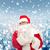 homem · traje · papai · noel · saco · natal · férias - foto stock © dolgachov