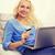 genç · kadın · kanepe · sipariş · çevrimiçi · bilgisayar · Internet - stok fotoğraf © dolgachov