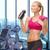vrouw · drinkwater · fles · gymnasium · fitness · sport - stockfoto © dolgachov