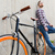 close up of hipster fixed gear bike and man stock photo © dolgachov