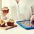 vrouw · calorieën · fast · food · mensen - stockfoto © dolgachov