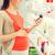 feliz · mulher · grávida · farmácia · gravidez · medicina - foto stock © dolgachov