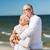 ouderen · vrouw · echtgenoot · knuffelen · buitenshuis · glimlachend - stockfoto © dolgachov