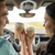 szczęśliwy · para · jazdy · samochodu · kawy · broni - zdjęcia stock © dolgachov