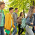 groep · gelukkig · studenten · lopen · buitenshuis - stockfoto © dolgachov
