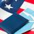 bandera · de · Estados · Unidos · pasaporte · aire · entradas · viaje · turismo - foto stock © dolgachov