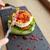 kobieta · jedzenie · obiad · Kafejka · szczęśliwy · kolor - zdjęcia stock © dolgachov