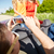vrienden · rijden · auto · recreatie · weg - stockfoto © dolgachov