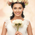 woman wearing wreath of flowers stock photo © dolgachov