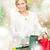 vrouw · verkoop · christmas · kerstmis · vakantie - stockfoto © dolgachov