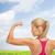 felice · donna · bicipiti · fitness - foto d'archivio © dolgachov