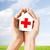 ręce · papieru · domu · krzyż · symbol - zdjęcia stock © dolgachov