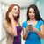 two smiling teenagers with smartphones stock photo © dolgachov
