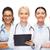 gülen · kadın · doktorlar · stetoskop · sağlık - stok fotoğraf © dolgachov